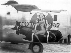 """B-24 Liberator """"Queen Mae"""", #44-40314, 319th Bomb Squadron, 90th Bomb Group in the South West Pacific Area during WW2"""