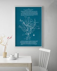 Map of DC District of Columbia Map Washington DC Map by WallMacArt