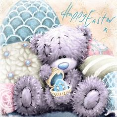 Happy Easter Me to You Bear Square Easter Card
