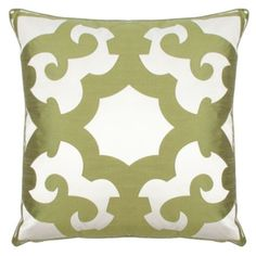 Love this large Z Gallerie Pillow... possibly use in guest bedroom aqua/green decor