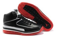 Cheap Jordan 2 ii Retro Black Red White men's shoes