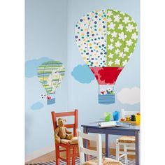 Vlieg met me mee ! RoomMates Set van 2 luchtballonnen , Super grote kinder-, babykamer decoratie stikkers!