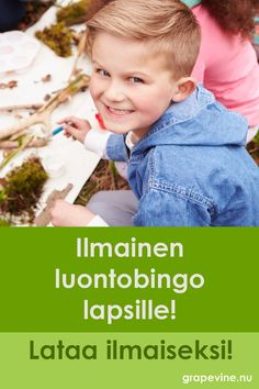 Käytä alennuskoodia KESÄLEIKKI sille tarkoitetussa kentässä ja saat luontobingon veloituksetta! Lataa luontobingo ilmaiseksi tästä>> Memory Games For Kids, Water Balloons, Autumn Crafts, Water Activities, Learning Games, Aurora, Finland, More Fun, Cool Kids
