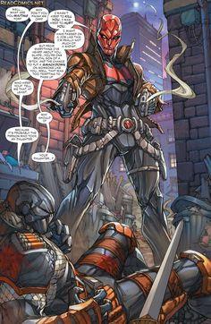 Deathstroke #16 (the New 52) Deathstroke vs Red Hood part 8