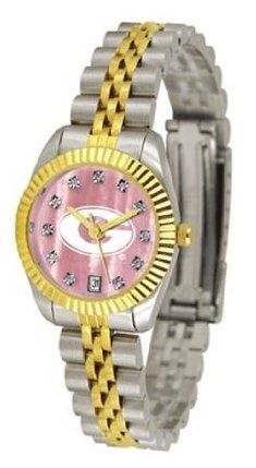 Georgia Bulldogs UGA Ladies Gold Dress Watch With Crystals by SunTime. $149.95. Links Make Watch Adjustable. Mother Of Pearl Dial With Swarovski Crystals. Women. Officially Licensed Georgia Bulldogs Ladies Gold Dress Watch With Crystals. 23kt Gold-Plated Bezel-Mother Of Pearl Dial With Swarovski Crystals. College ladies gold dress watch with mother of pearl face. Georgia Bulldogs women's watch gives that classic, business-appropriate look. Features a 23kt gold-plated bezel, ...