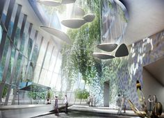 Futuristic Architecture Discover coop himmelb(l)au releases images of flying garden tower frankfurt coop himmelb(l)au releases images of flying garden tower frankfurt Green Architecture, Futuristic Architecture, Architecture Design, Building Architecture, Biomimicry Architecture, Classical Architecture, Interior Rendering, Interior Design, Atrium Design