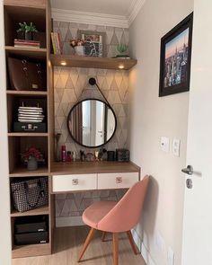 Room Design Bedroom, Room Ideas Bedroom, Home Room Design, Home Design Decor, Home Bedroom, Bedroom Decor, Home Decor, Minimalist Room, Teen Room Decor