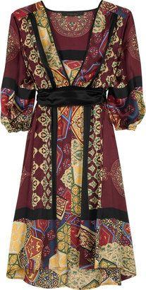 ShopStyle: Single Printed satin dress