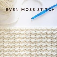 How to Even Moss Stitch for Crochet - Daisy Farm Crafts