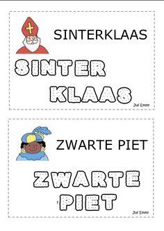 Woordkaarten Sinterklaas