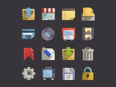 One of my fav icons by Pixeden, download them there http://www.pixeden.com/media-icons/flat-design-icons-set-vol3
