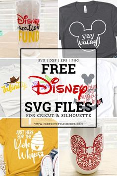 Free Disney Vacation SVG Files For Cricut and Silhouette – PerfectStylishCuts Cricut Svg Files Free, Cricut Fonts, Cricut Vinyl, Free Svg Cut Files, Silhouette Cameo Projects, Silhouette Cameo Freebies, Free Cut Files For Silhouette, Silhouette Cameo Shirt, Silhouette Cameo Files