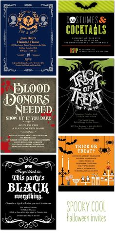 109 Best Halloween Invitations Images