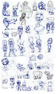 Classtime sketches -End2010 by Parororo on DeviantArt