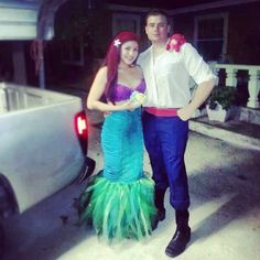 The Little Mermaid costumes. Ariel & Prince Eric