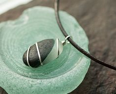 Sea glass necklace multi color UK sea glass by BorealisSeaGlass