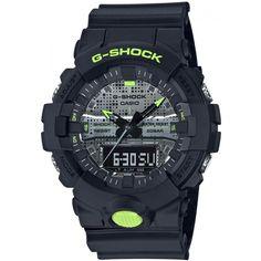 CASIO G-Shock GA-800DC-1A Special Colors Model G Shock Watches, Casio G Shock, Watches For Men, Men's Watches, Burberry Men, Gucci Men, Omega Seamaster, Black N Yellow, Colour Black