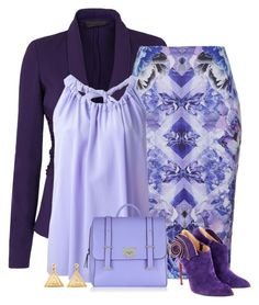 """""""purples"""" by divacrafts ❤ liked on Polyvore featuring Donna Karan, Ally Fashion, Erika Cavallini Semi-Couture, Christian Louboutin, ChloBo and Original"""