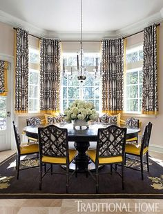 Arkansas Home With A Stylish Palette Bay Window CurtainsGray