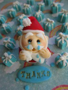 Santa Claus Fondant Cake Toppers by mimicafe Union http://mimicafeunion.blogspot.com