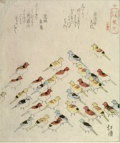 "tiremat:  Totoya Hokkei - Pilgrimaging to Enoshima, ""Toy sea gulls at samesu"""