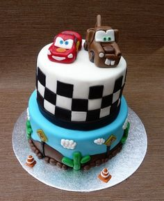 2nd birthday cars cake