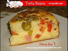 Torta bauru de liquidificador (faça e venda), com fotos de passo a passo - Espaço das delícias culinárias