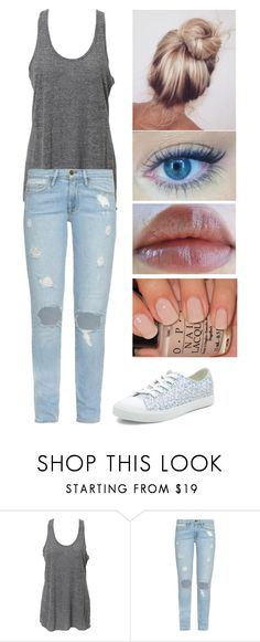 """"""";p"""" by lolo12334 ❤ liked on Polyvore featuring Simplex Apparel, Frame, New Look and Revlon"""