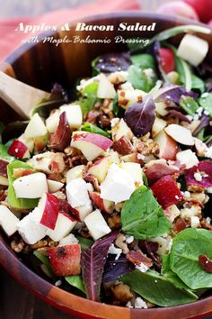 Apples and Bacon Salad with Maple-Balsamic Vinaigrette