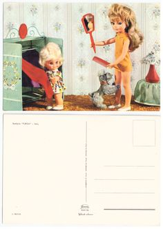 Furga doll postcard from the 1960s