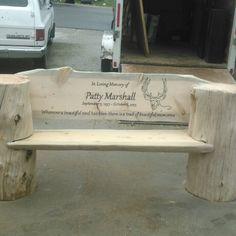 banca rustica memorial bench
