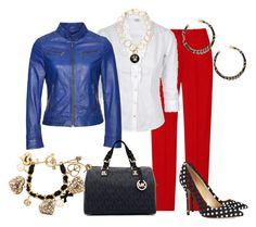 Lunares by outfits-de-moda2 on Polyvore featuring moda, Michael Kors, Oscar de la Renta, MICHAEL Michael Kors, Betsey Johnson and Forever 21