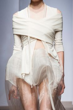 All wrapped up: sculptural shapes and wrap detail // Yiqing Yin Fall 2013