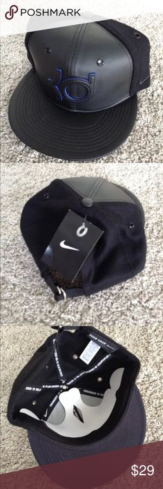 50a874c6092 New Nike KD Kevin Durant Wool Leather Hat NWT Nike KD Wool  amp  Leather