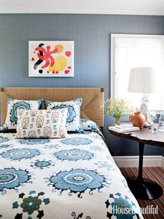 Guest bedroom. Design: Peter Dunham. #blue #bedroom