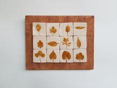 Tablou cu motive vegetale: frunze | Corina Marina Ceramics Agate, Agates