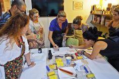 Por dentro do Workshop de Estamparia Manual Étnica com Ivone Rigobello | Stampa…