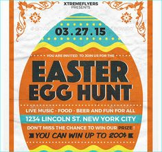 Egg Hunt Easter Celebration Flyer Template  Flyer Template