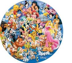Disney Friends (Round) - 1000 Pieces - Danawares