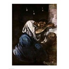 La Madeleine Canvas Art - Paul Cezanne (18 x 24)