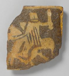 Nottingham Medieval Tile, with helmeted knight on horseback Met Museum