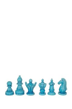 Turquoise Chess Pieces