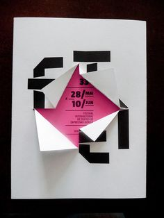 Interesting exhibition flyer concept/ interactive idea which is simple yet well executed