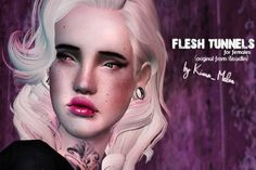 My Sims 3 Blog: Flesh tunnels for females by Kima_Melon