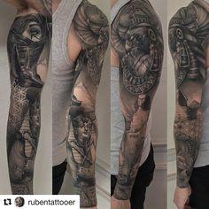 Egyptian sleeve tattoo ideaa