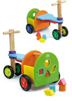 Rainbow Trike with Sorting Blocks from Vilac #1014S #vilac #magicforesttoys