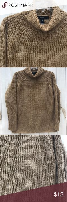 """Forever 21 Turtleneck Sweater Pre-loved, in good shape and 100% acrylic. Shoulder to hem:  23"""" outer sleeve:  21"""" pit to pit: 20"""". Based on dimensions I feel it's designed to be oversized. Make the most of your shipping dollar and peruse my closet of 1,000+ items: jackets, boots, shoes, sweaters, tops and accesories. Bundle and save $$!!!  SW9-B Forever 21 Sweaters Cowl & Turtlenecks"""