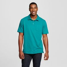 Men's Big & Tall Polo Shirt Green 4XBT - Mossimo Supply Co.