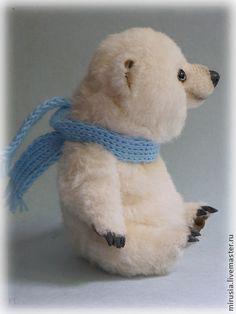 Снежок - мишки тедди,авторские мишки Тедди,teddy bear,мишка,панда,коричневый