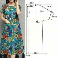 Dress Making Patterns, Skirt Patterns Sewing, Sewing Patterns Free, Clothing Patterns, Diy Clothing, Sewing Clothes, Fashion Sewing, Diy Fashion, Costura Fashion